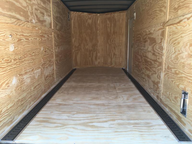 "2019 Samson SP716TA Cargo Trailer - 80"" Door Opening - E-Track - BLACK"