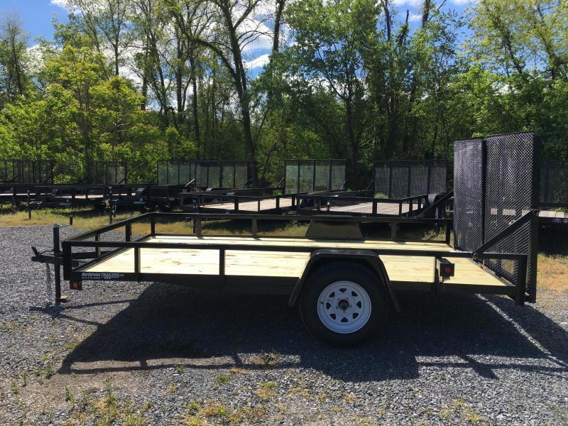 2018 TWF 102x12 Single Axle Split Rear Gate