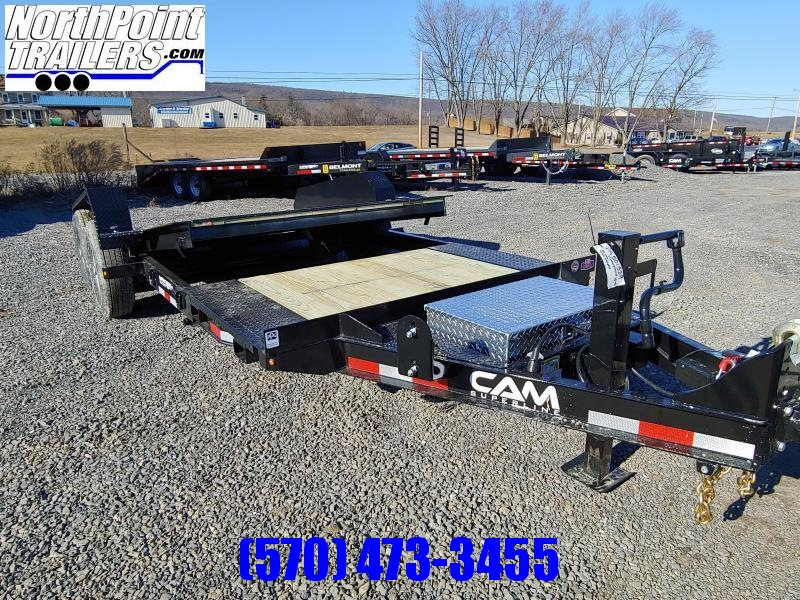 2019 Cam Superline 7CAM19STTXW Split Deck Tilt Trailer Extra Wide Equipment Trailer