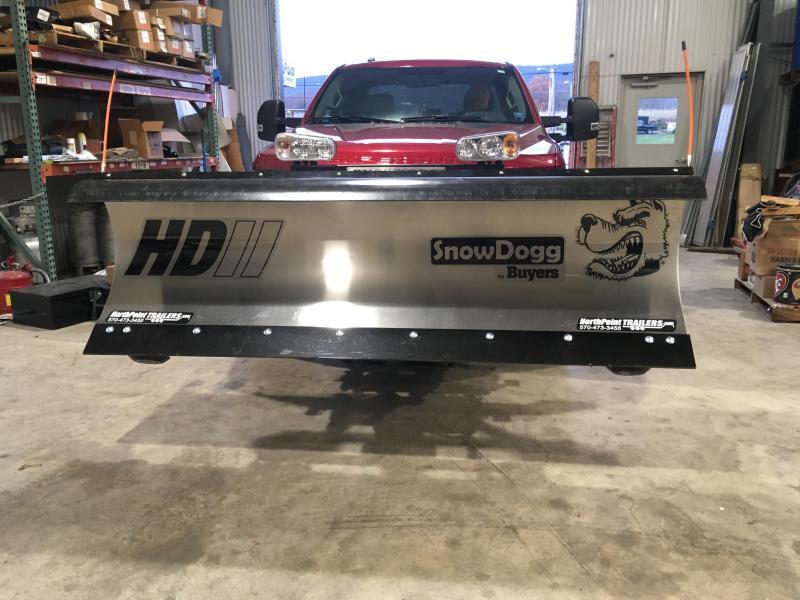 SnowDogg HD80 Stainless Snow Plow - 8' Straight Blade
