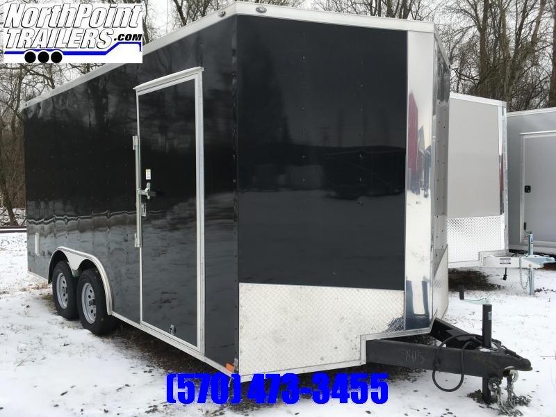 """2020 Spartan SP8.5x16 Enclosed Trailer - Black - 84"""" Interior"""