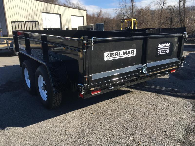 2018 Bri-Mar DT712LP-10K Dump Trailer w/ Ramps