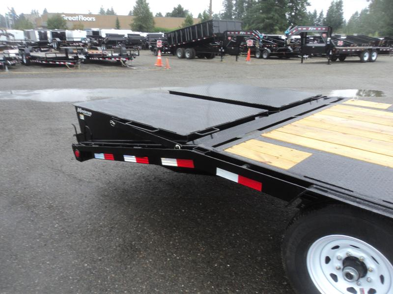 2020 PJ LS 8.5x25 Gooseneck Flatdeck with Monster Ramps