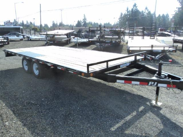 2020 PJ Trailers 8.4X20' 10K Deckover w/Slide In Ramps