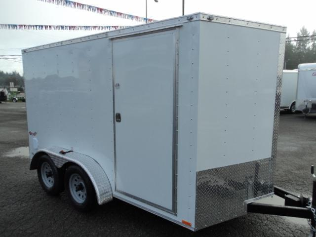 2020 Cargo Mate Trailers 7X12 7k V-Nose w/Rear Ramp Door