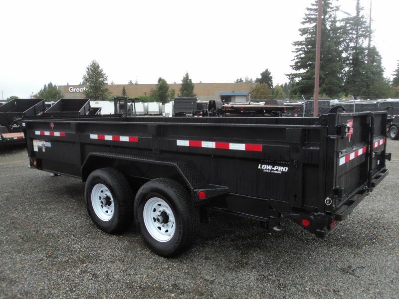 2020 PJ 7x16 14K Dump with 10K Jack Trailer Tarp kit