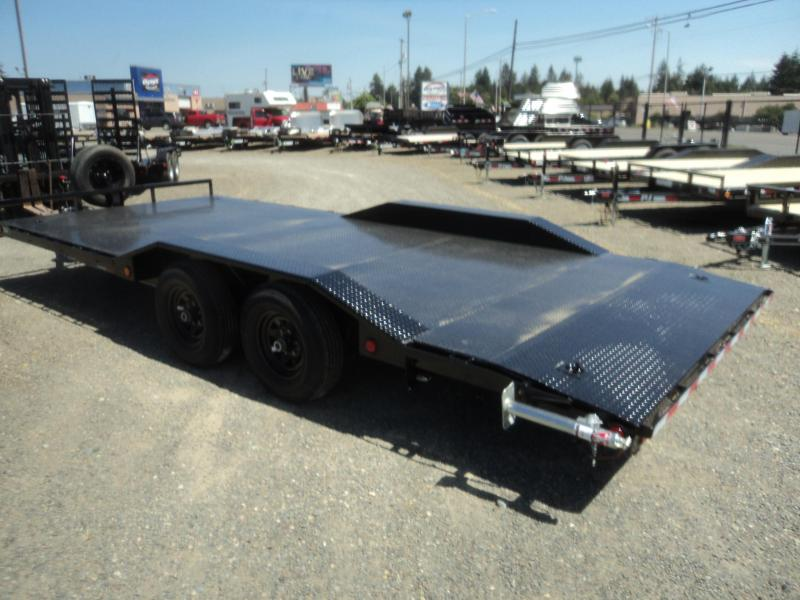 2018 PJ Trailers B5 8.5X20 Buggy Hauler with steel deck/spare tire