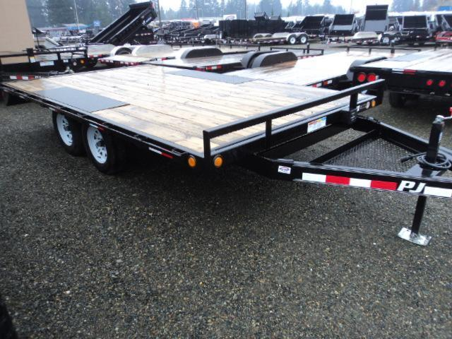2019 PJ Trailers 8.4X18' 10K Deckover w/Slide In Ramps