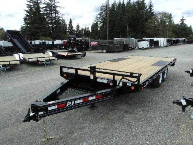 2020 PJ Trailer 8.5X24 14K Deckover w/Slide in Ramps