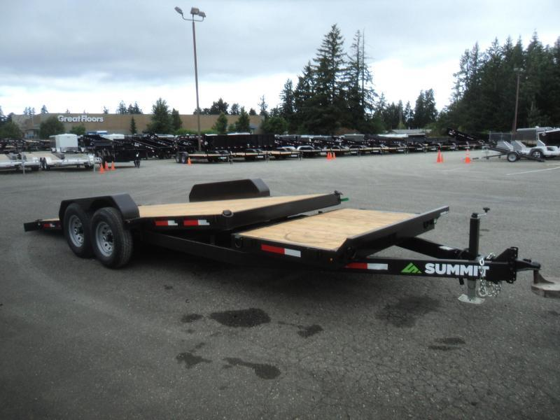 2019 Summit Cascade 7X20 14K Stationary Tiltbed Trailer