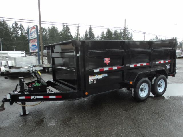 2020 PJ Trailers 7x14 High Side Dump w/4ft Sides/10K Jack Upgrade