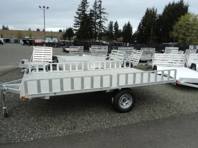 2019 Aluma 7X12  A8812 3 PLACE QUAD TRAILER