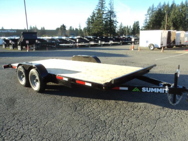 2019 Summit Cascade 7x18 10K Flatbed Trailer