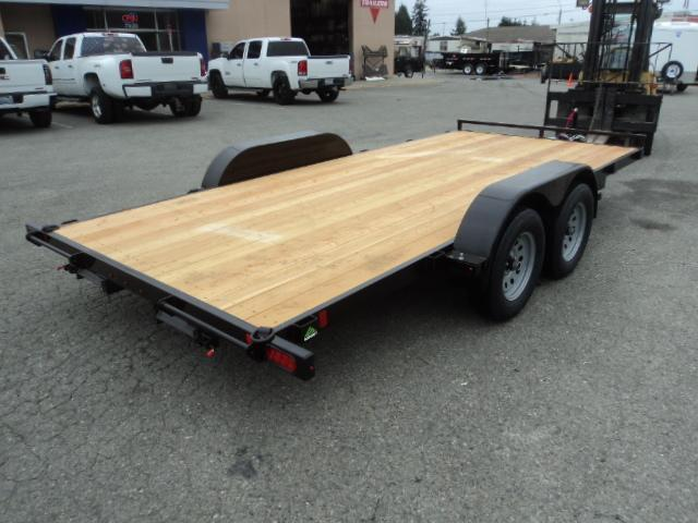 2019 Summit Alpine 7x16 7K Flatbed w/Removable Fenders Car Hauler