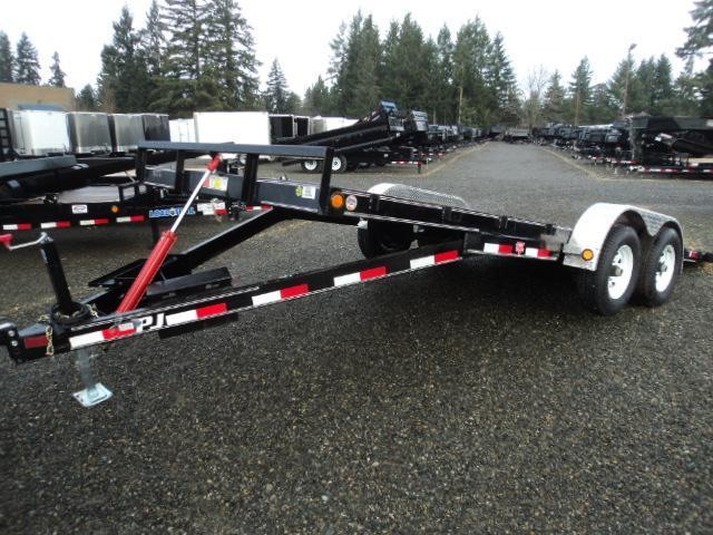 2017 PJ Trailers 7X20 7K Hydraulic Quick Tilt Trailer