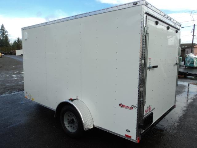 2019 Cargo Mate Trailers 7X12 V-Nose w/Rear Ramp Door