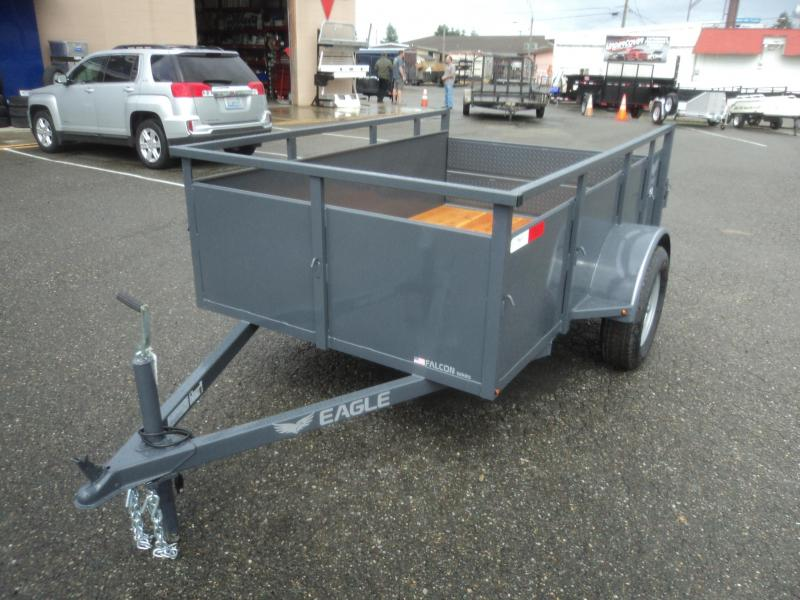2018 Eagle Trailer Falcon Lightspeed 5x8 w/Split Ramps Utility Trailer