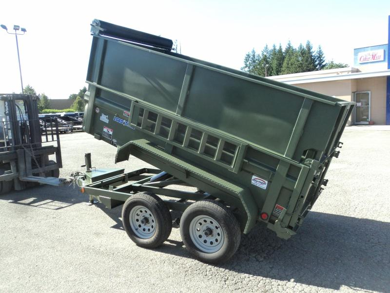 2018 Load Trail 5X10 7k w/Side Ext Kit/Ramps/Spare tire with mount Dump Trailer