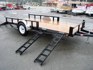 2020 PJ Trailers 7X14 with Electric Brakes/Side Mount ATV Ramps Utility Trailer