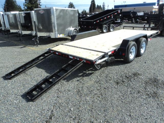 2018 PJ Trailers 7X20 10K w/Tire Upgrade Channel Equipment Trailer