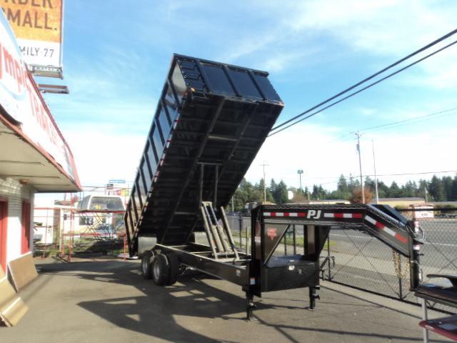 2018 PJ 8x20 Tandem Dual Dump w/4ft Removable Sides