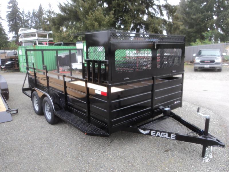 2019 Eagle 7X14 7K w/Landscape Package Utility Trailer