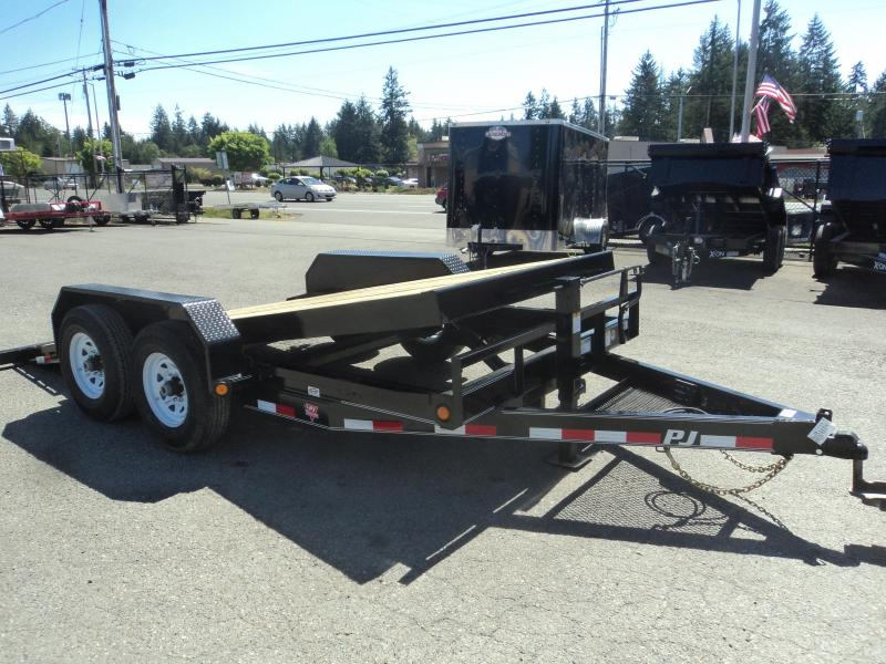 2020 PJ Trailers 7X16 14k Channel Equipment Tilt Trailer