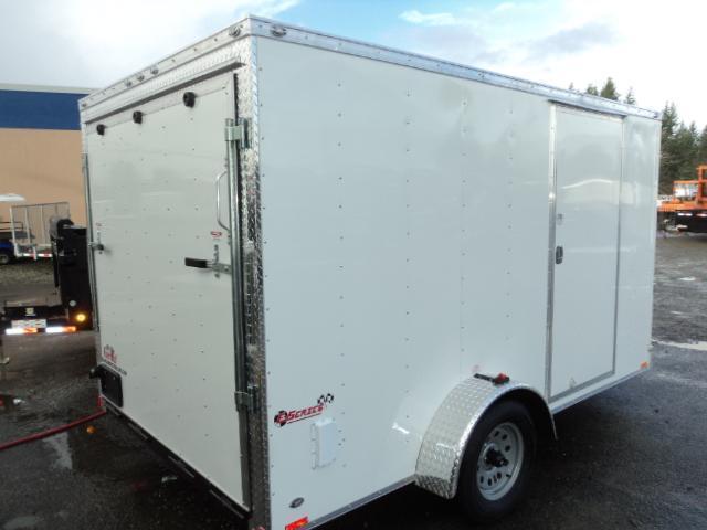 2019 Cargo Mate Trailers 7X12 7k V-Nose w/Rear Ramp Door