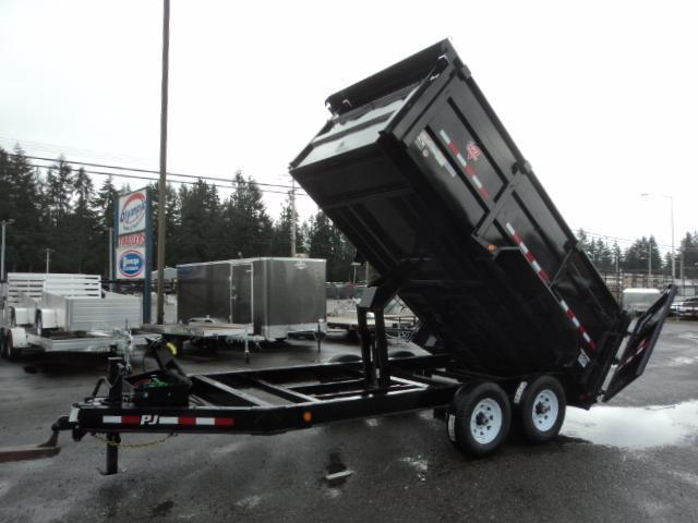 2020 PJ Trailers 7x14 High Side Dump w/4ft Sides/10K Jack Upgrade
