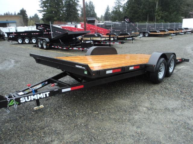 2018 Summit Cascade 7x18 7K Tilt w/Removable Fenders Car / Racing Trailer