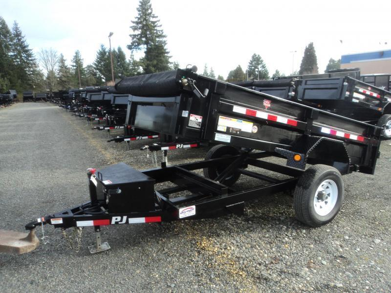 2020 PJ Trailers 5x8 5K w/Tarp Kit Dump Trailer