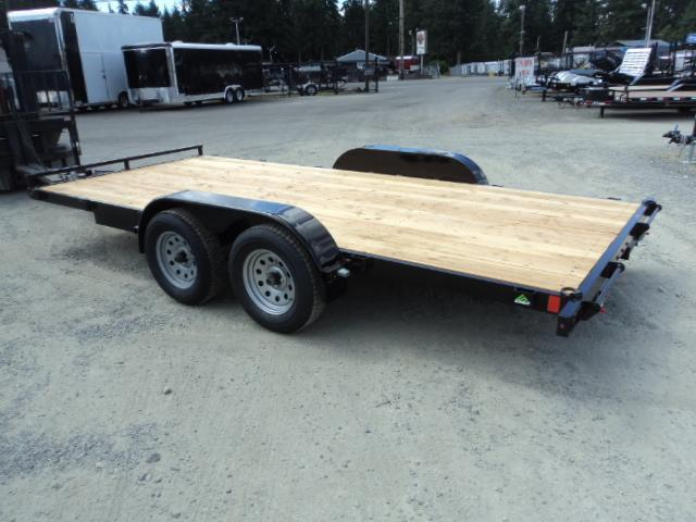 2018 Summit Flatbed 7x18 7K Car / Racing Trailer