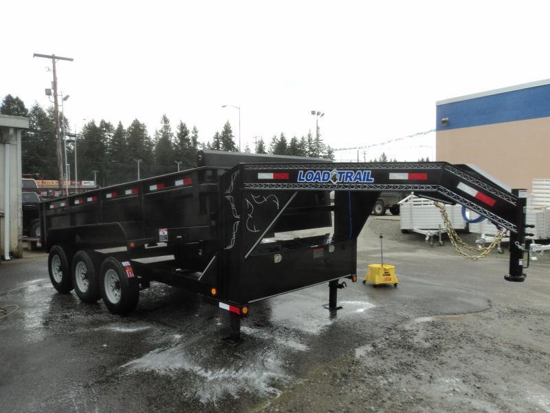2019 Load Trail 7X16 21K Gooseneck Dump With Scissor Lift/Tarp Kit/Ramp[s