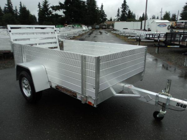 "2020 Aluma 4.5X8 WITH 24"" TALL SIDES Utility Trailer"