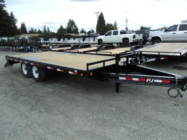 "2020 PJ Trailers 8X20 8"" I-Beam Deckover (F8) Equipment Trailer"