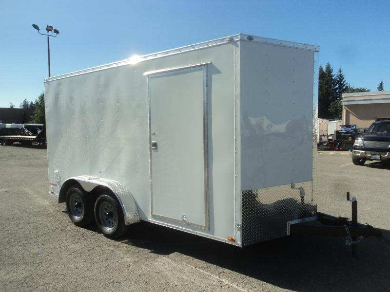 2020 Cargo Mate Trailers 7X14 7k V-Nose w/Extra Height/Rear Ramp Door