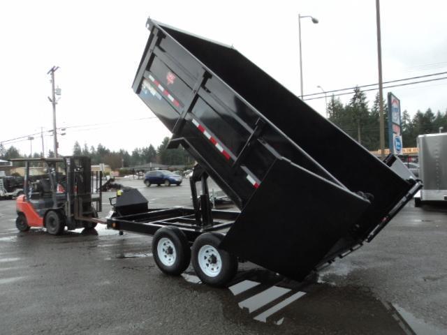 2020 PJ Trailers 7X16 14K High Side Dump Trailer w/10k Jack