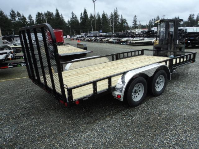 2019 PJ Trailers 7x16 7k w/Fold up Gate/Side Mount ATV Ramps/LED Light Upgrade