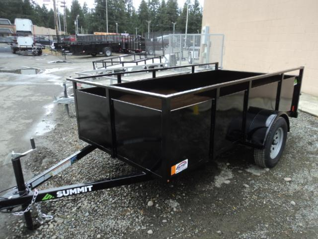 2018 Summit Alpine 6X12 Single Axle W/Split Ramp Utility Trailer