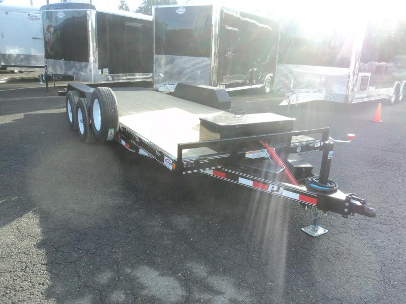 2017 PJ Trailers 7X20 10K Hydraulic Quick Tilt Trailer