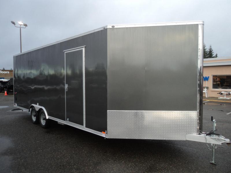 2018 Cargo Mate Aluminum 8.5x22 7K SNOWMOBILE TRAILER