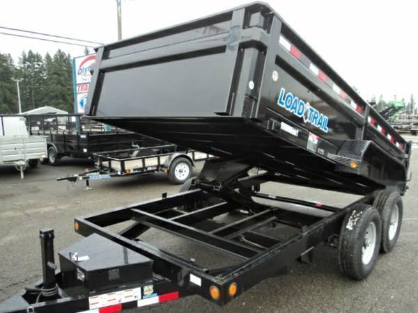 2018 Load Trail 7X16 14K Dump With Scissor Lift and Tarp Kit