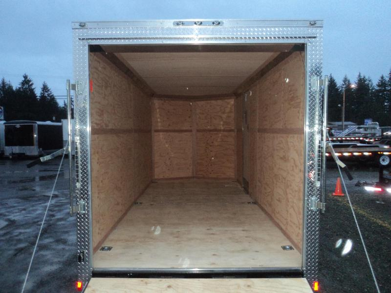 2018 Cargo Mate E-series 7x16 7K V-nose w/Rear Ramp Door