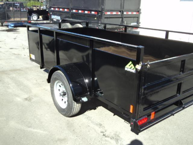 2020 Summit Alpine 5X8 Single Axle W/Split Ramp Utility Trailer