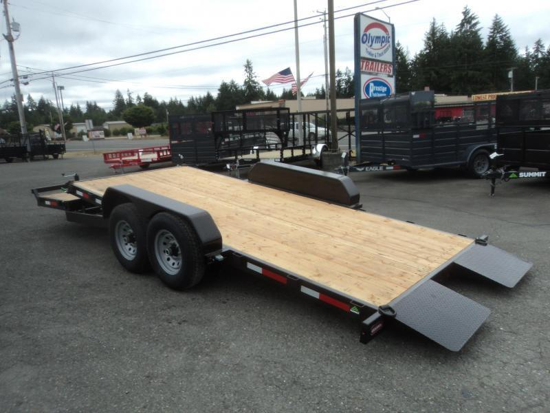 2019 Summit 7X18 14K Stationary Tiltbed Trailer Equipmen