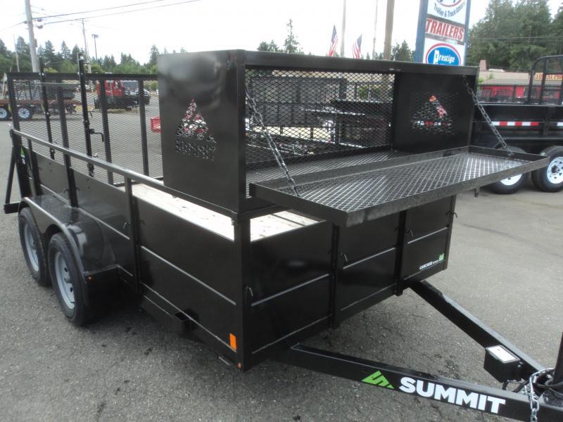 2018 Summit Cascade 7x12 Dual Axle Landscape Utility Trailer