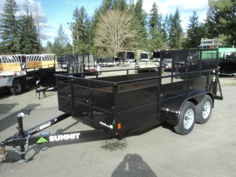2018 Summit Cascade 6x12 Dual Axle Utility Trailer