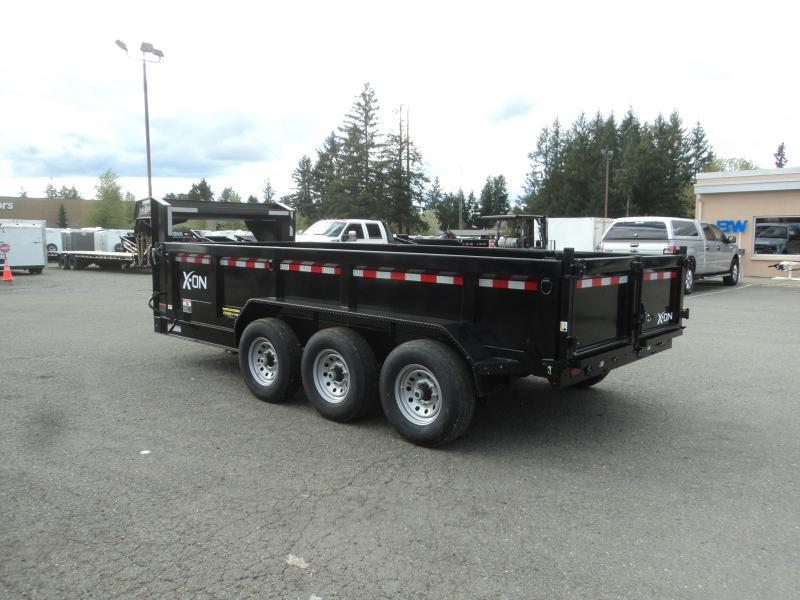 "2019 X-On 7x16 21K Gooseneck 8"" I Beam Dump Trailer w/Tarp Kit/Ramps++"