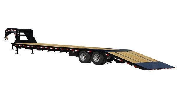 2020 PJ 8.5X32 25K Gooseneck Low-Pro with Hydraulic Dove Equipment Trailer