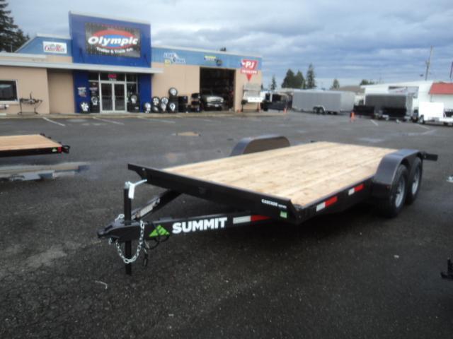 2019 Summit Cascade 7x18 10K w/Removable Fenders Flatbed Trailer